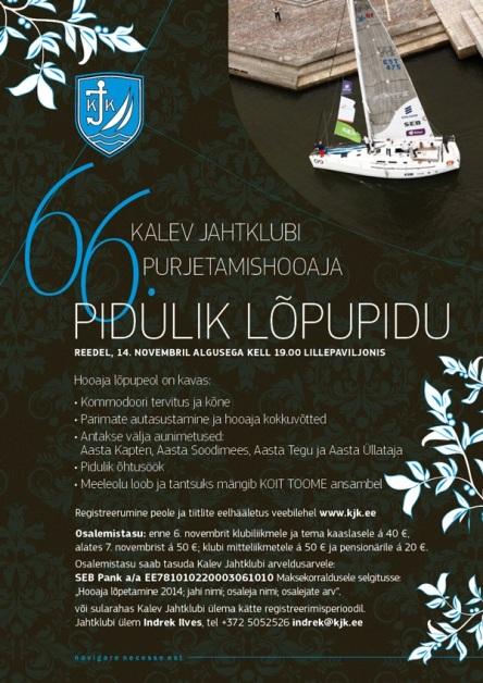 Kalev Jahtklubi 2014.a hooaja lõpetamine