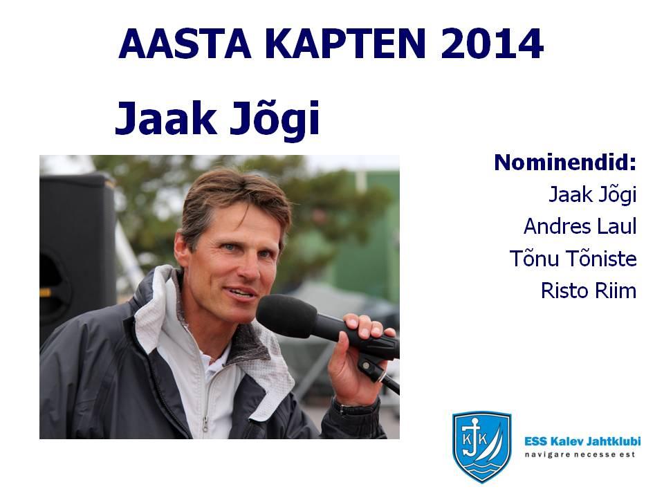 Aasta kapten 2014 - Jaak Jõgi