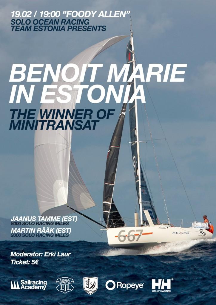 Benoit Marie Minitransat võitja Eestis