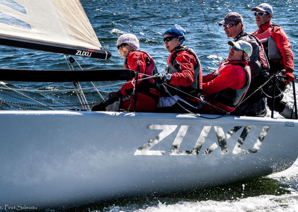 Melges 24 2015.a Eesti MV pronks ZUXU EST791 - Peter Šaraškin, Kalev Tanner, Paavo Pettai, Liis Koort, Tuuli Org - foto: Piret Salmistu