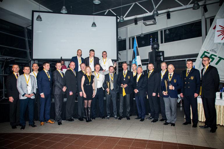 2015.a USS Security-KJK kolmapäevaregattide ORC I grupi parimad: Olympic, Forte ja Reval Cafe Elisa ST Foto: Meisi Volt