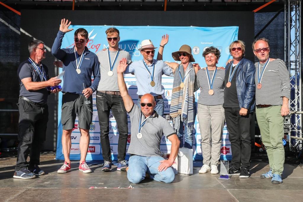Folkboot klassi Eesti Meistrivõistluste parimad - A. Le Coq 59. Muhu Väina regatt 2016 - foto Erlend Štaub/Postimees