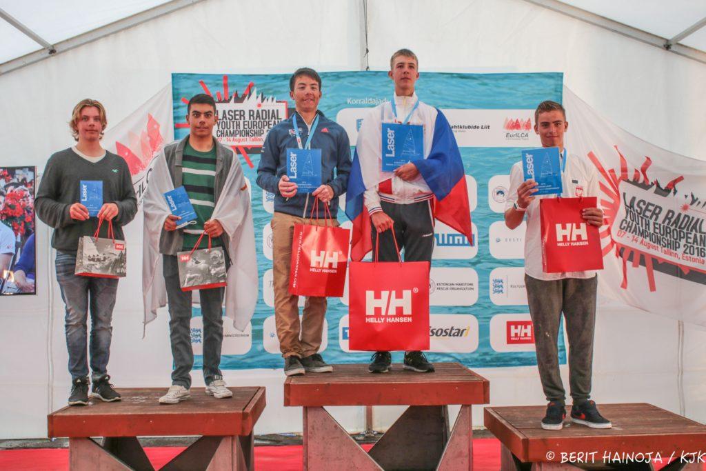 U17 noormeeeste esiviisik - Laser Radial Noorte Euroopa Meistrivõistlused 2016 - 14.08.2016 - foto Berit Hainoja/KJK