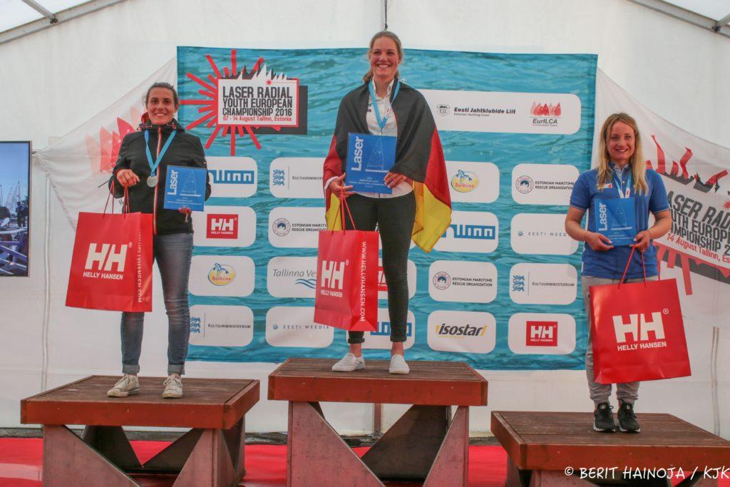 U19 neidude esikolmik - Laser Radial Noorte Euroopa Meistrivõistlused 2016 - 14.08.2016 - foto Berit Hainoja/KJK