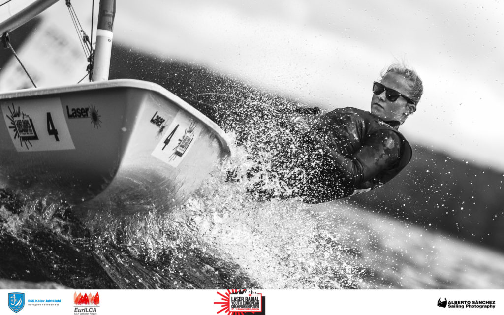 Maris Seersant EST190609, Tallinna Jahtklubi - Laser Radial Noorte Euroopa Meistrivõistlused 2016 - 11.08.2016 - foto Alberto Sanchez