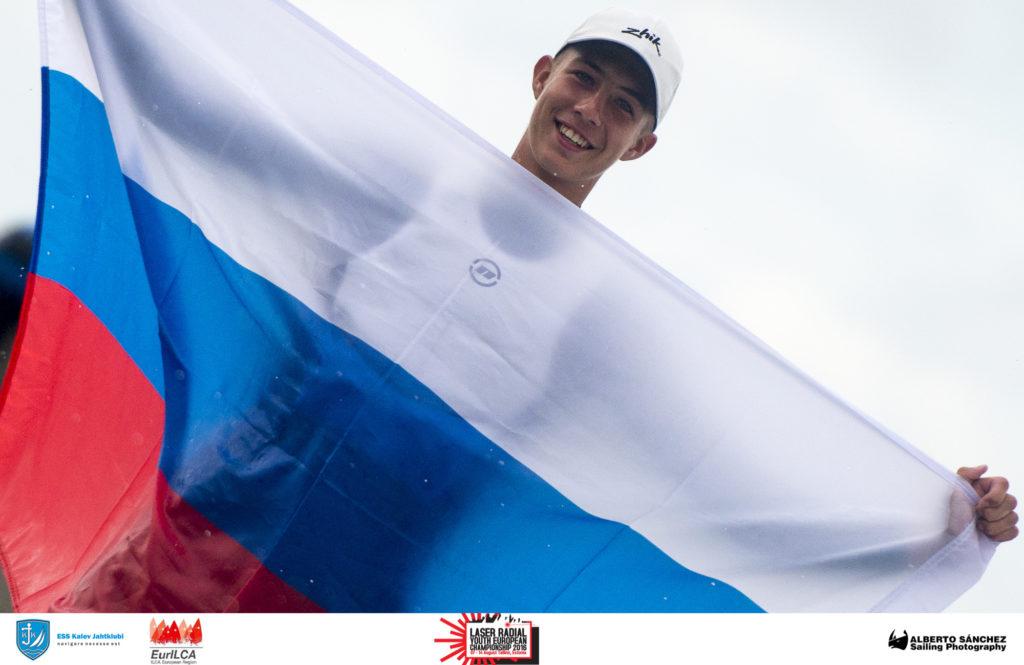 Daniil Krutskikh Venemaalt, Laser Radial U17 ja U19 Euroopa meister 2016 - Laser Radial Noorte Euroopa Meistrivõistlused 2016 - 14.08.2016 - foto Alberto Sanchez
