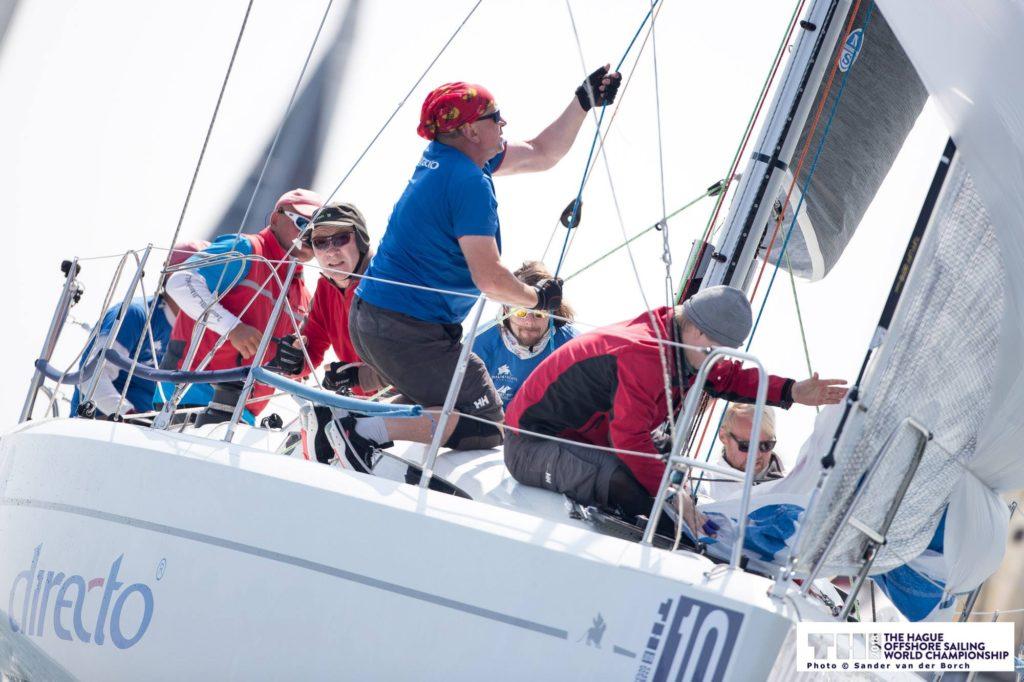 DIRECTO (Italia 9.98) Alar Volmeriga roolis (Kalevi JK) FOTO: © 2018 Sander van der Borch / The Hague Offshore Sailing World Championship